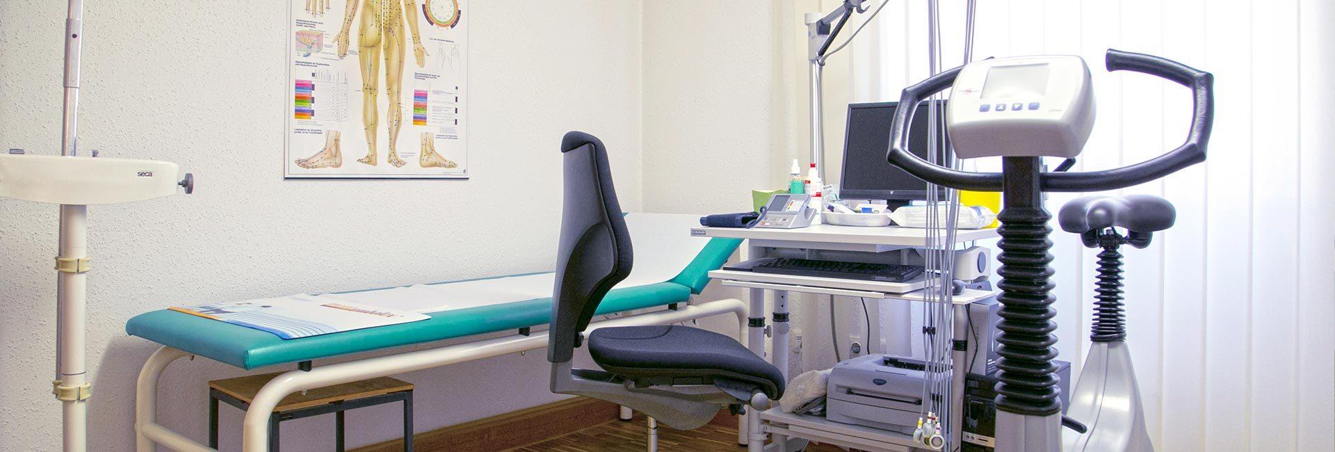 Behandlungszimmer von Dr. med. Christine Schleith