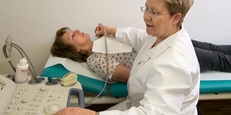 Ultraschalluntersuchung mit Dr. med. Christine Schleith